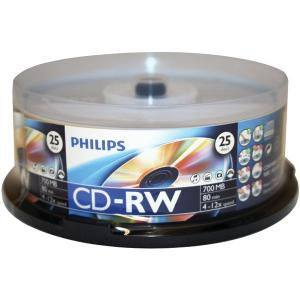 Recordable Discs 700MB 80-Minute CD-RWs, 25-ct Spindle