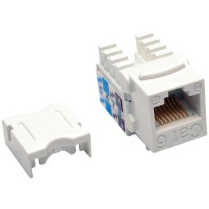 Cables, Connectors & Accessories CAT-6/CAT-5E 110-Style Punch-down Keystone Jack (White)