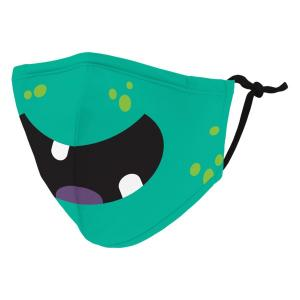 Health Care Kid's Reusable/Washable Cloth Face Mask with Filter Pocket (Little Green Monster)