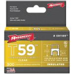 Clear T59(TM) Insulated Staples for RG59 quad & RG6, 5/16
