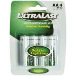 ULN4AASL AA Rechargeable NiCd Batteries for Solar Lights, 4 pk