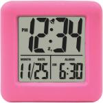 Soft Cube LCD Alarm Clock (Pink)